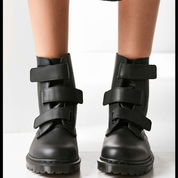Coralia Adjustable Strap Boot by Dr. Martens, available on poshmark.com for $120 Gigi Hadid Shoes Exact Product