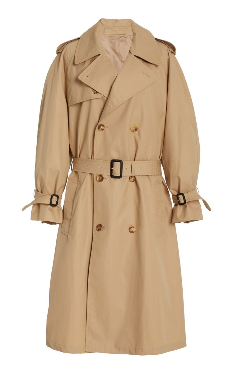 Cotton Gabardine Double-Breasted Trench Coat by Wardrobe NYC, available on modaoperandi.com for $1195 Gigi Hadid Outerwear Exact Product