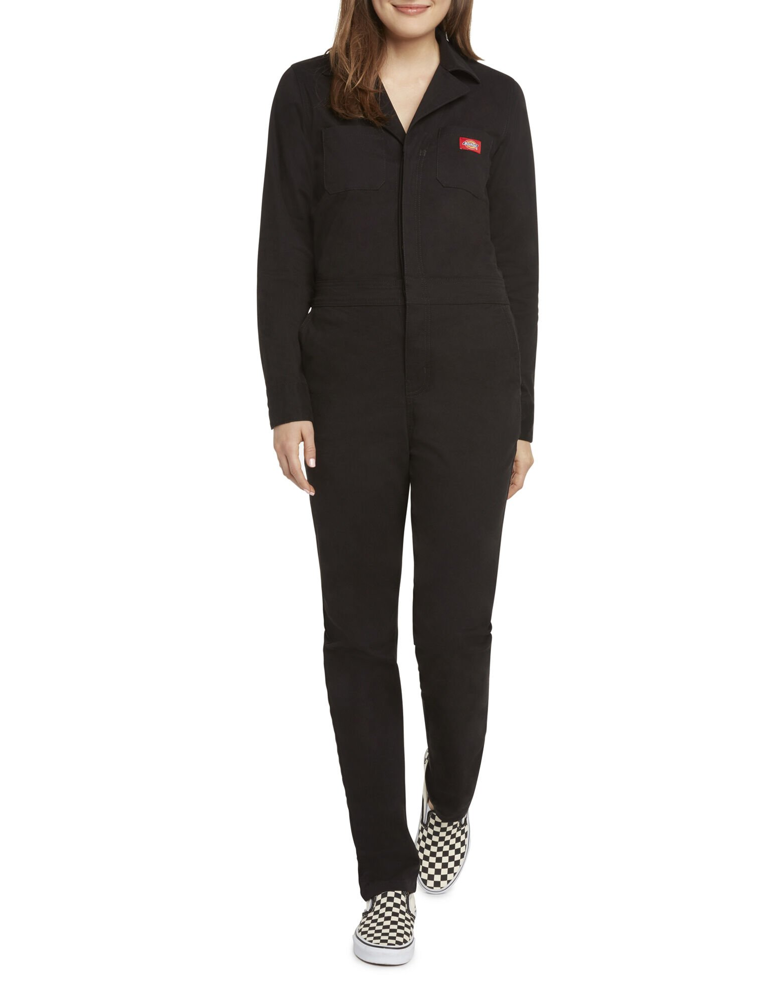 Dickies Girl Juniors' Button Front Coveralls by Dickies, available on dickies.com for $79.99 Gigi Hadid Dress Exact Product