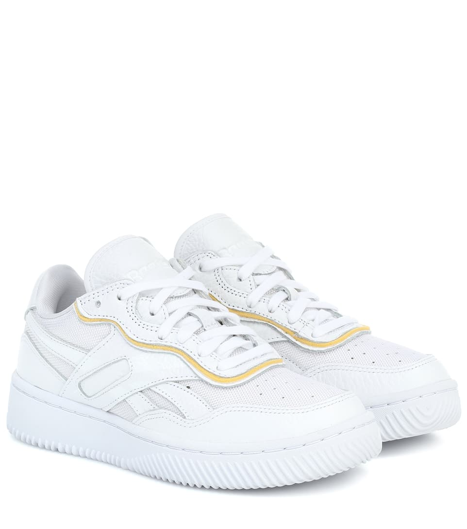 Dual Court II leather sneakers by REEBOK X VICTORIA BECKHAM, available on mytheresa.com for $131 Gigi Hadid Shoes Exact Product