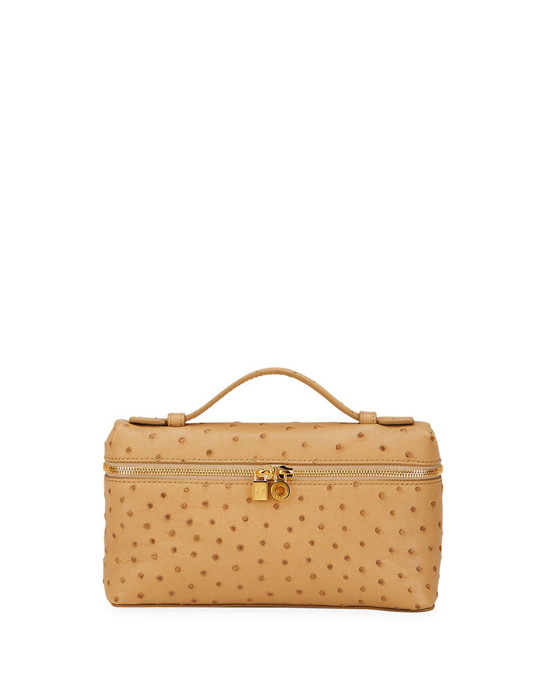 L19 Ostrich Crossbody Bag with Extra Pocke by Loro Piana, available on neimanmarcus.com for $2875 Gigi Hadid Bags Exact Product