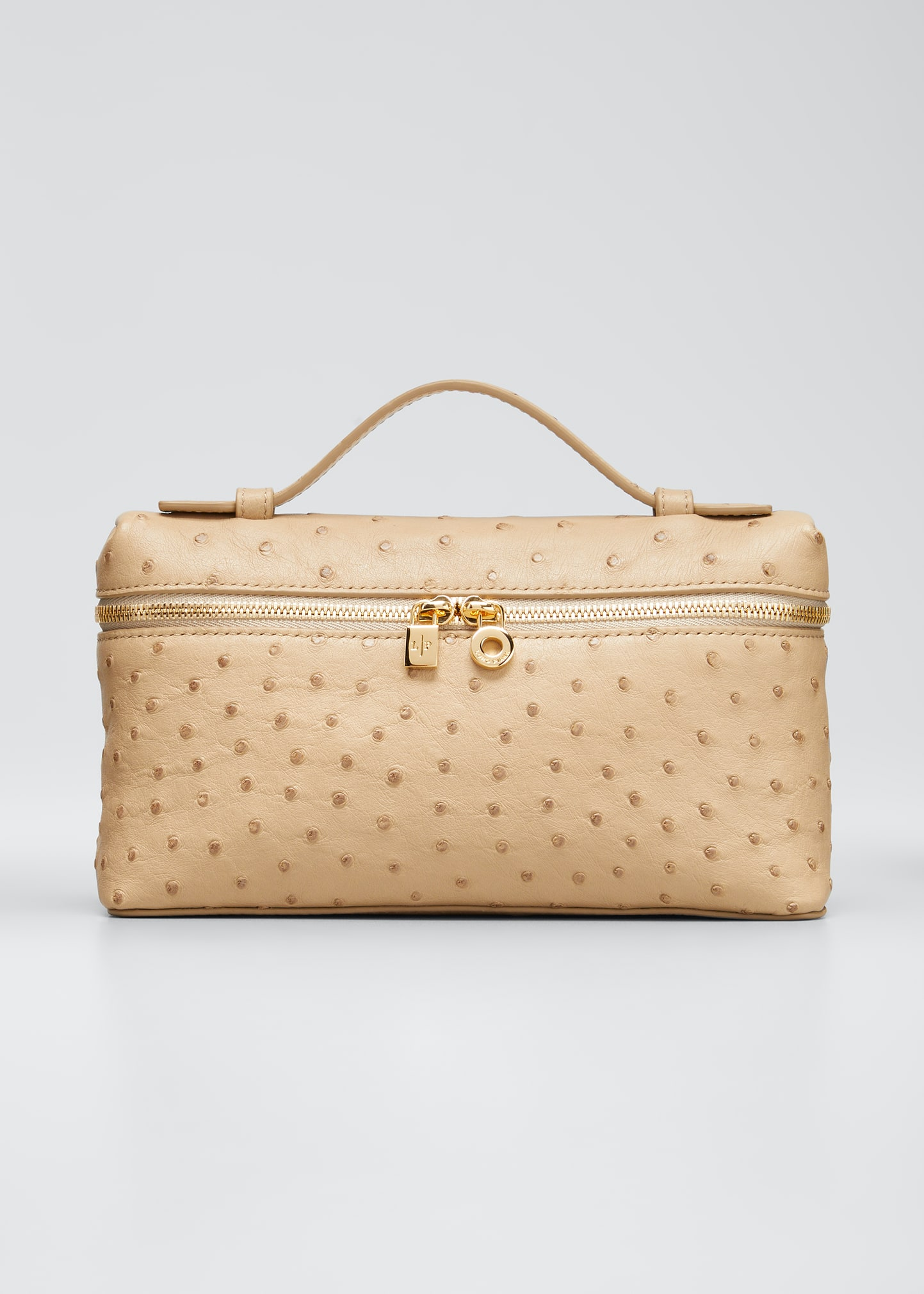 L19 Ostrich Crossbody Bag with Extra Pocket by Loro Piana, available on neimanmarcus.com for $2875 Gigi Hadid Bags Exact Product