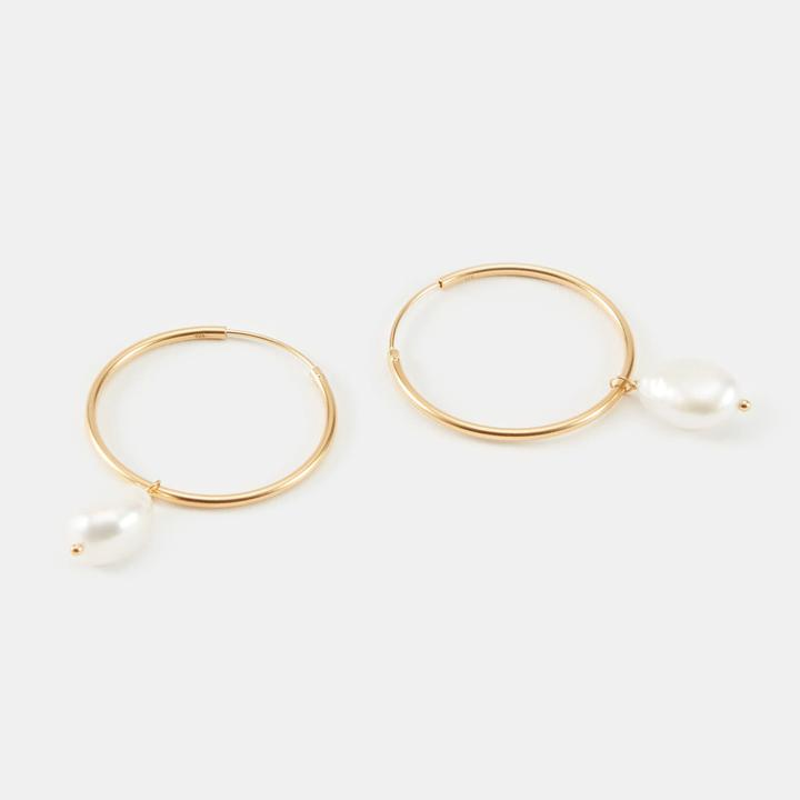 Rebecca Pearl Hoops by Linjer for $101.15 Gigi Hadid Jewellery Exact Product