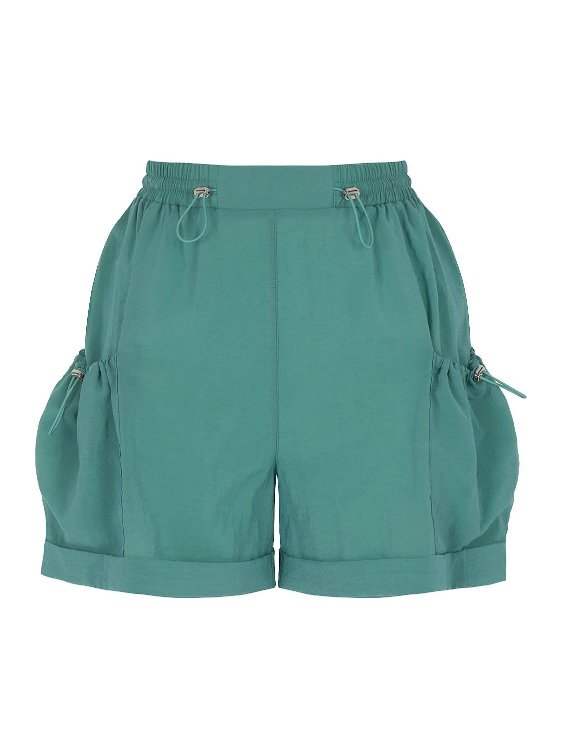 Ruched Mini Shorts with Pockets by Nocturne, available on shopnocturne.com for $73 Gigi Hadid Shorts Exact Product