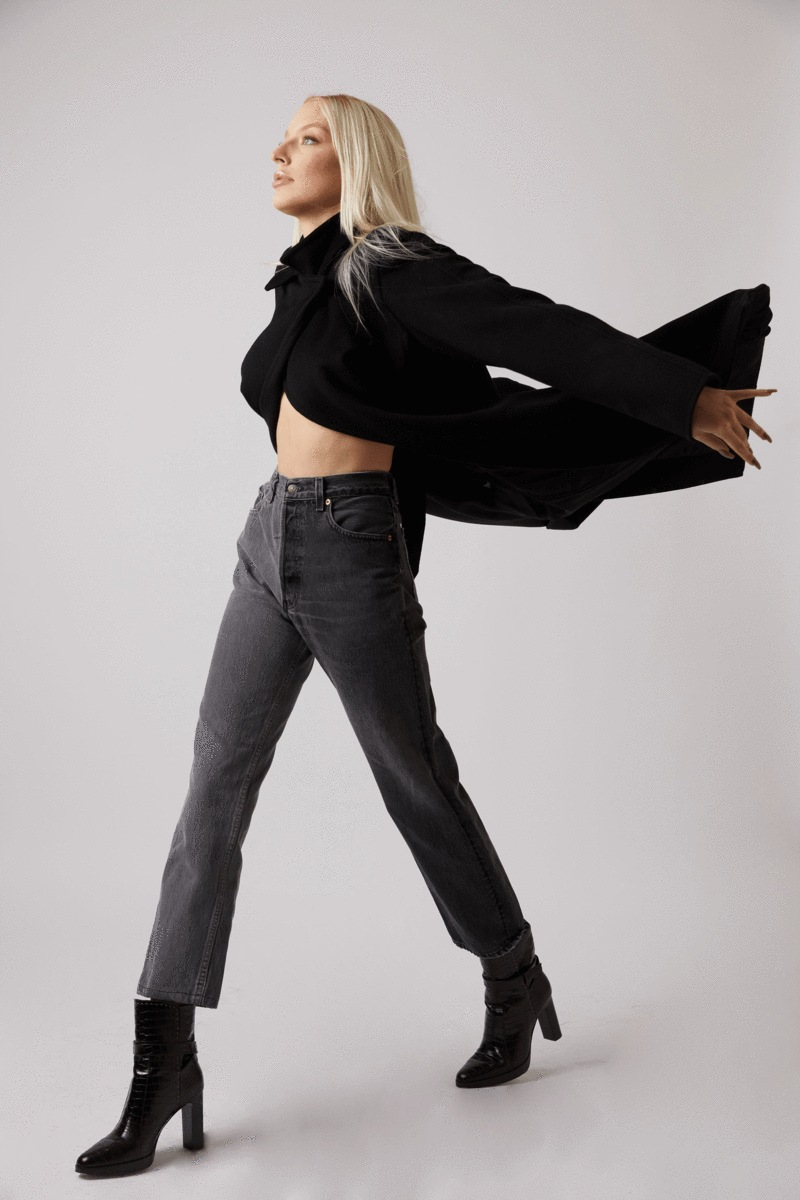 Winona Grey Jeans by DENIM, available on ebdenim.com for $70 Gigi Hadid Pants Exact Product