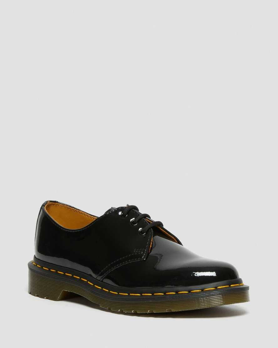 1461 WOMEN'S PATENT LEATHER OXFORD SHOES by Dr. Martens, available on drmartens.com for $160 Hailey Baldwin Shoes Exact Product