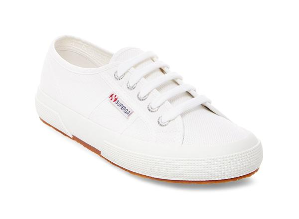 2750 COTU CLASSIC WHITE by superga, available on superga-usa.com for $65 Hailey Baldwin Shoes Exact Product