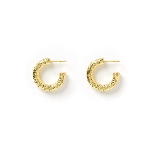 ALLEGRA GOLD HOOP EARRINGS by Arms of Eve, available on armsofeve.com for $100 Hailey Baldwin Jewellery Exact Product