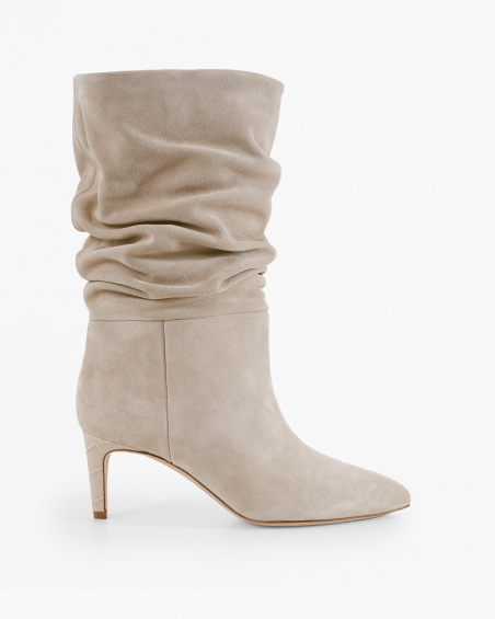 ANGORA SLOUCHY SUEDE BOOTS by Paris Texas, available on norrgatan.com for EUR595 Hailey Baldwin Shoes Exact Product