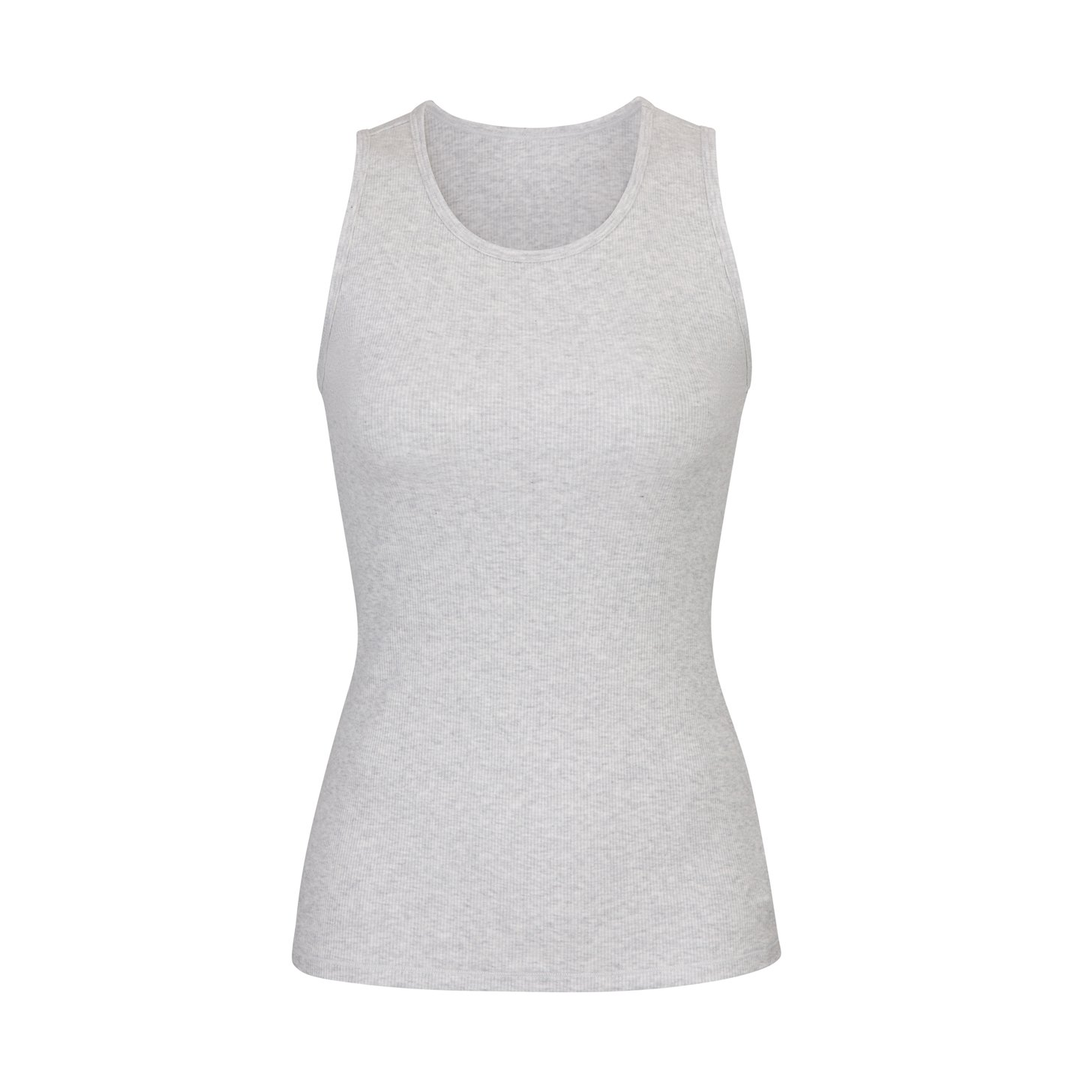 BOYFRIEND TANK by Skims, available on skims.com for $38 Hailey Baldwin Top Exact Product