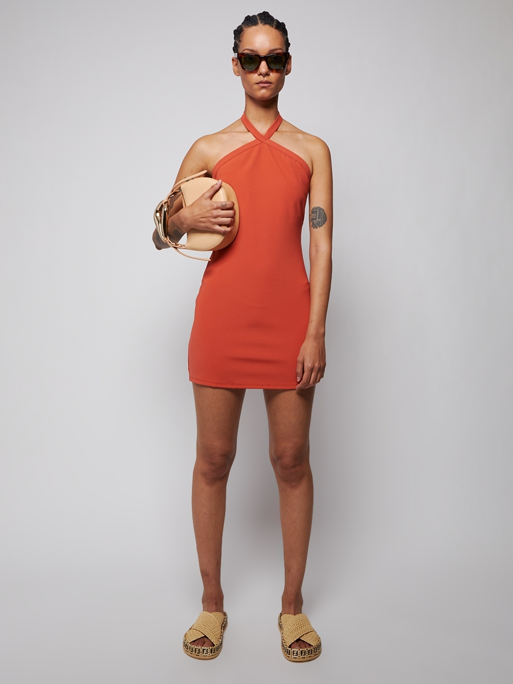 Brigadieros Dress Persimmon by The Webster, available on thewebster.us for $415 Hailey Baldwin Dress Exact Product