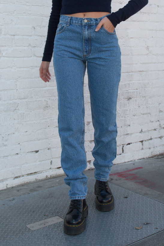Carly Jeans by Brandy Melville, available on brandymelvilleusa.com for $38 Hailey Baldwin Pants Exact Product