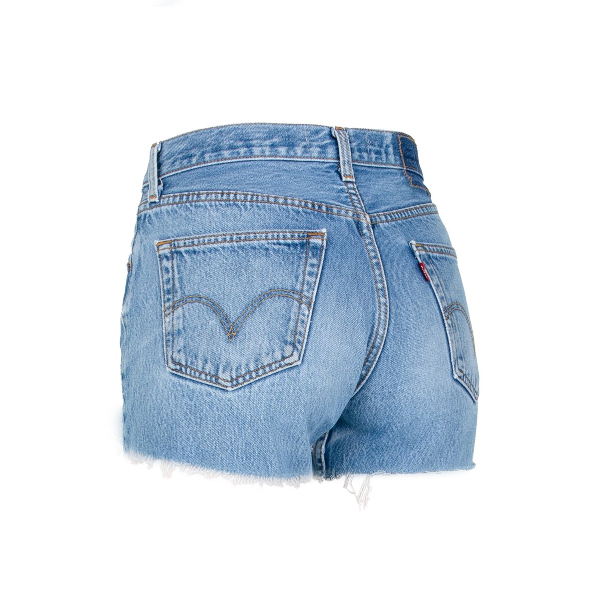 Crossover Shorts by EB Denim, available on ebdenim.com for $155 Hailey Baldwin Shorts Exact Product