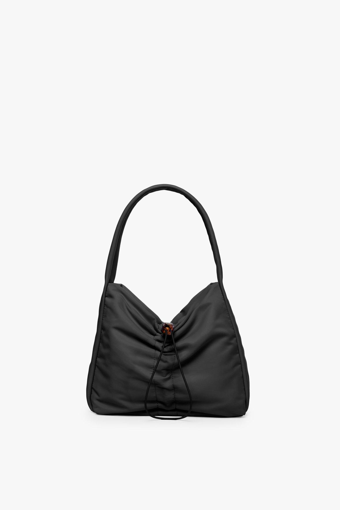 FELIX NYLON SHOULDER BAG | BLACK by Staud for $195 Hailey Baldwin Bags Exact Product