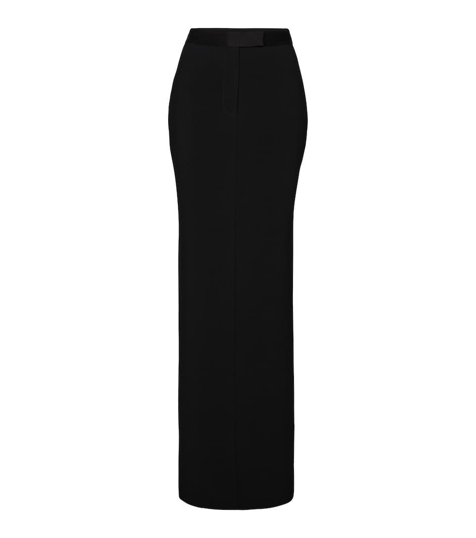 Gabriel crêpe satin maxi skirt by ALEX PERRY, available on mytheresa.com for EUR885 Hailey Baldwin Skirt Exact Product