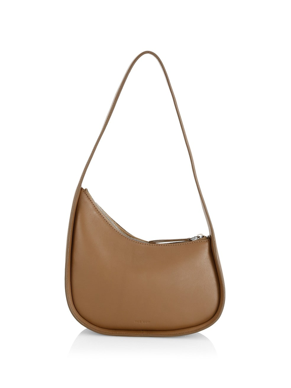 Half Moon Leather Shoulder Bag by The Row, available on saksfifthavenue.com for $1290 Hailey Baldwin Bags Exact Product