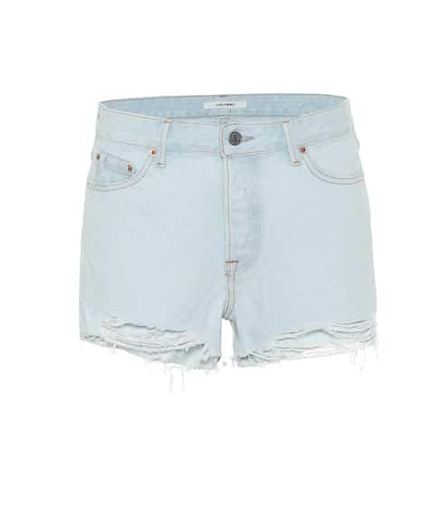 Helena denim shorts by Grlfrnd, available on mytheresa.com for EUR149 Hailey Baldwin Shorts SIMILAR PRODUCT