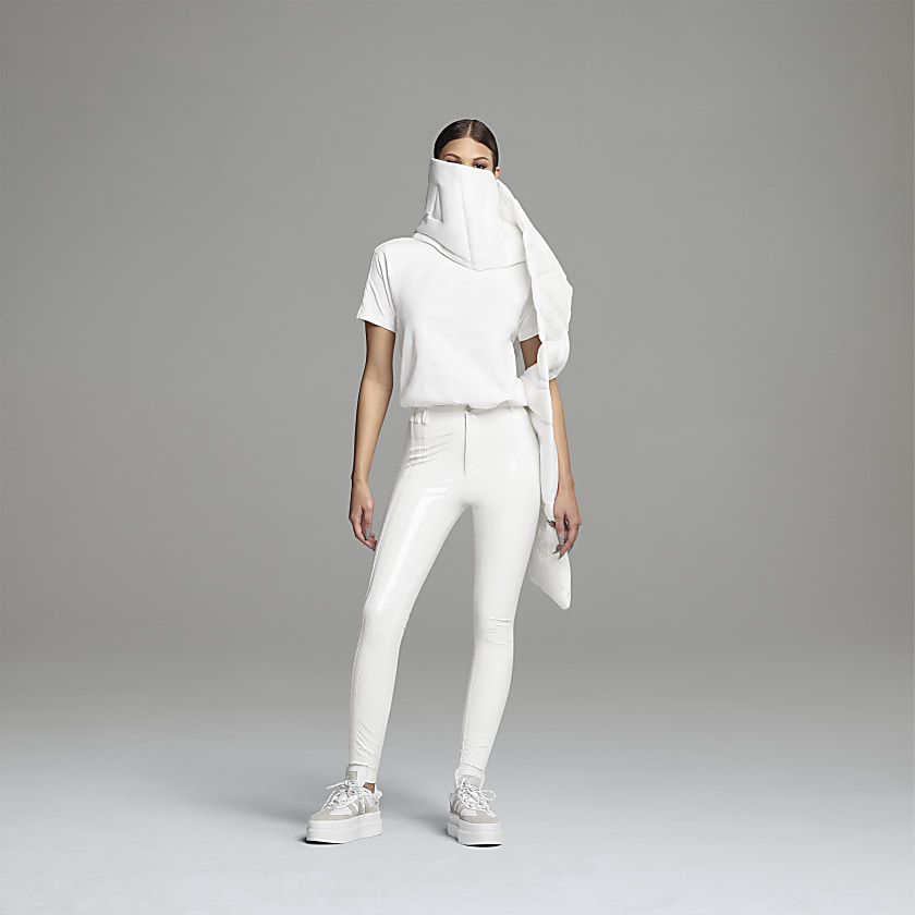 LATEX PANTS by Adidas, available on adidas.com for $120 Hailey Baldwin Pants Exact Product