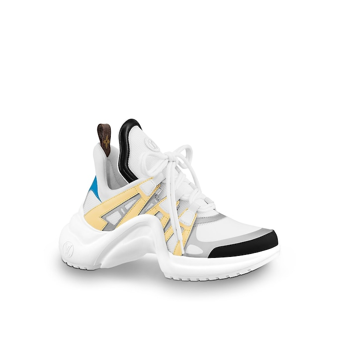 LV Archlight Sneaker by Louis Vuitton, available on louisvuitton.com for $1090 Hailey Baldwin Shoes Exact Product