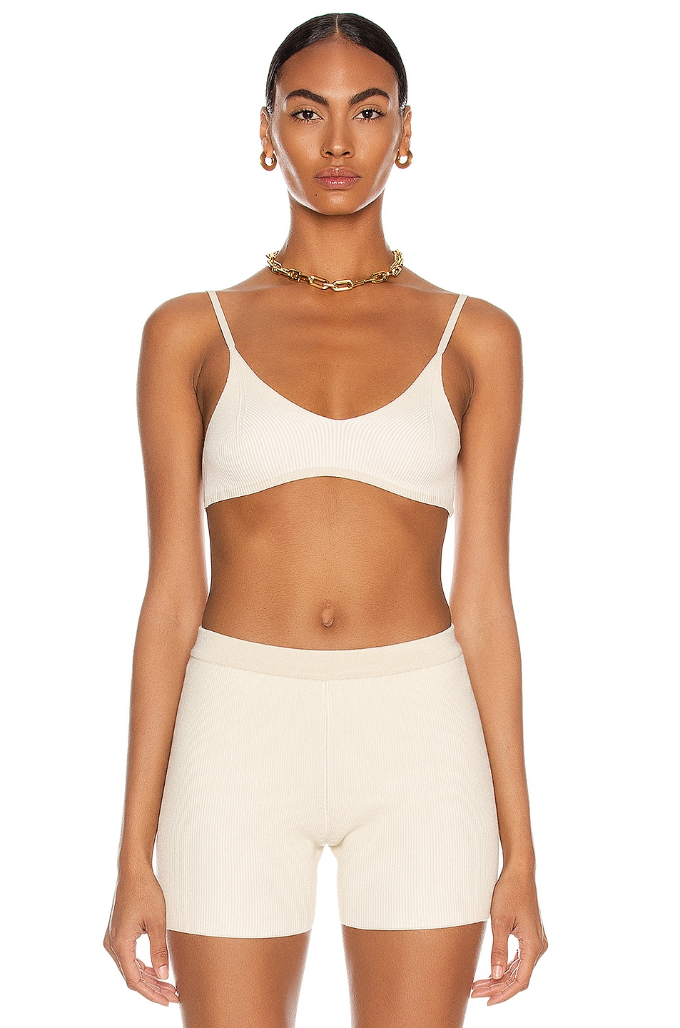 Le Bandeau Valensole by Jacquemus, available on fwrd.com for $155 Hailey Baldwin Top Exact Product