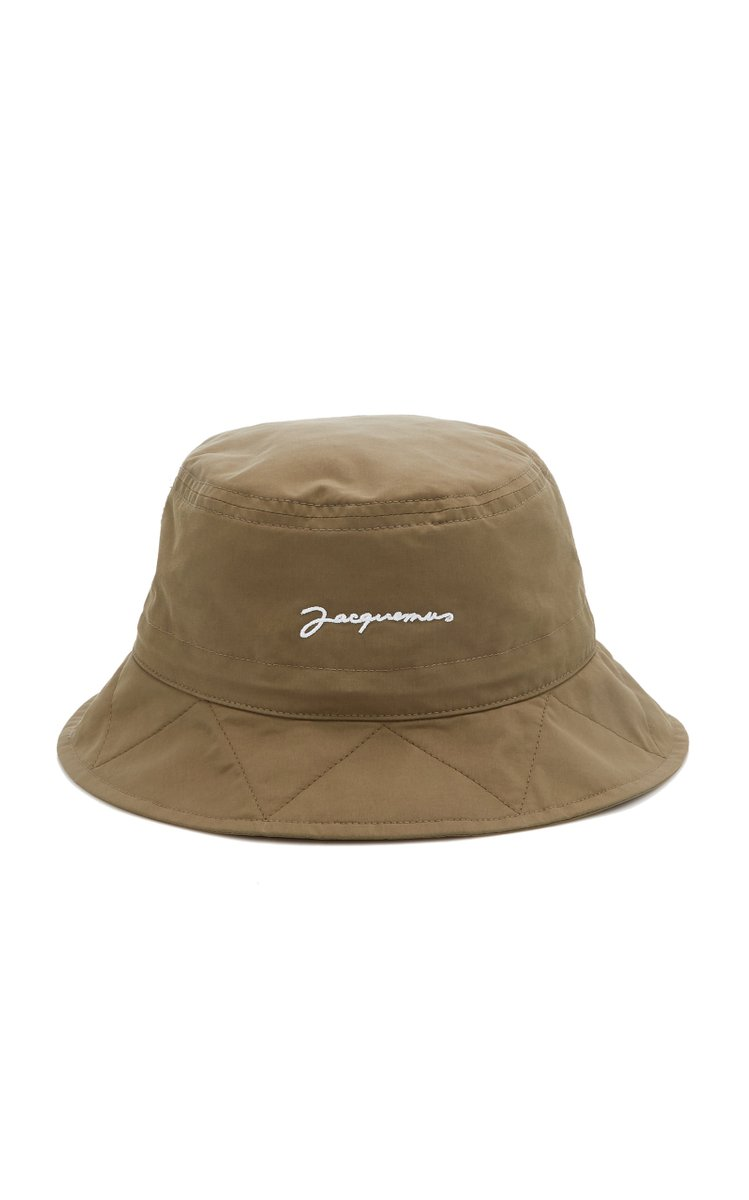 Le Bob Picchu Cotton-Blend Bucket Hat by Jacquemus, available on modaoperandi.com for $100 Hailey Baldwin Hat Exact Product