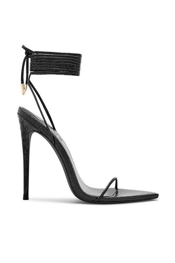 Luce Minimale - Metallic Vegan Python en Noche by FEMME SHOES, available on femme.la for $169 Hailey Baldwin Shoes Exact Product