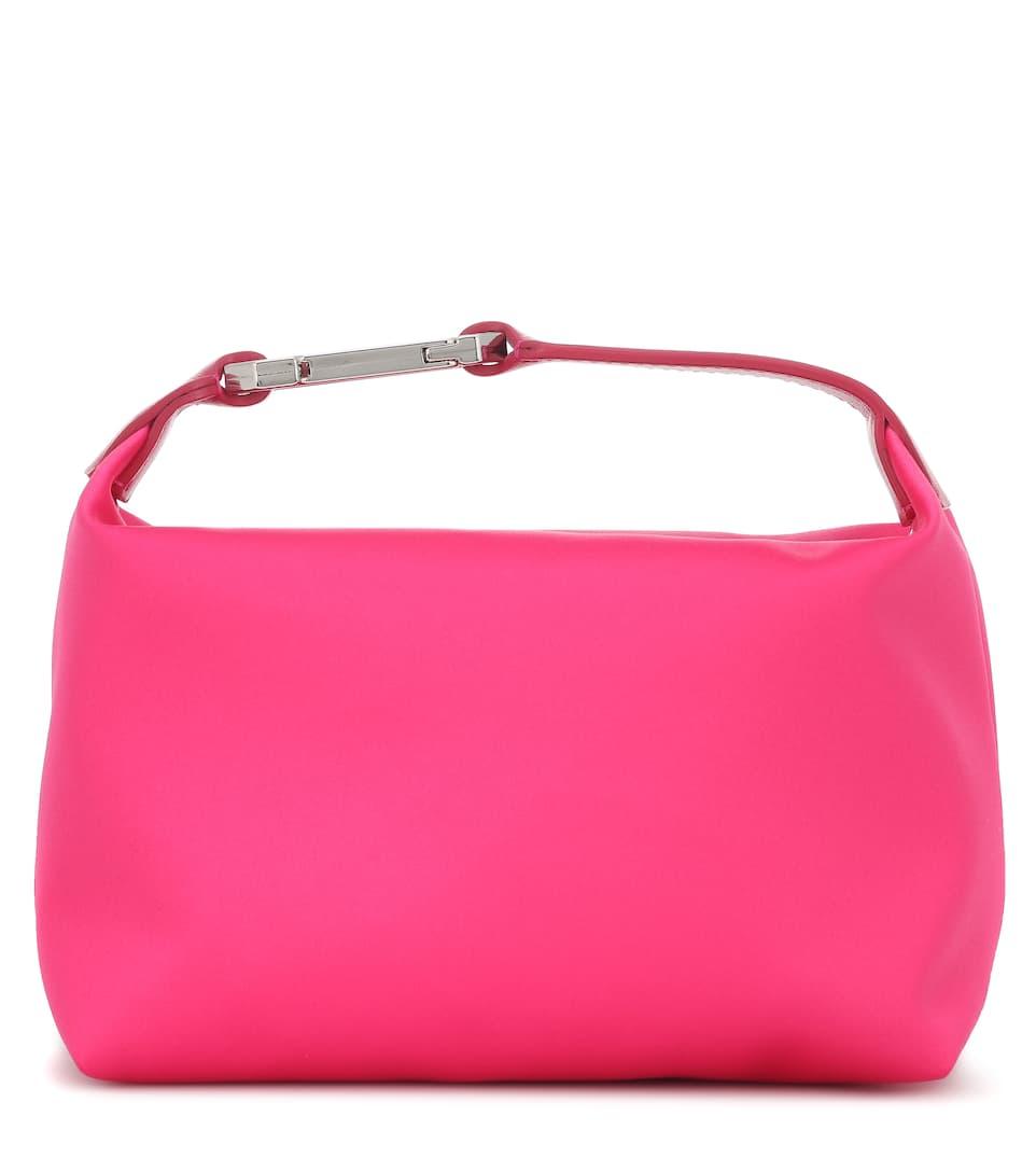 Moonbag satin clutch by EÉRA, available on mytheresa.com for EUR575 Hailey Baldwin Bags Exact Product