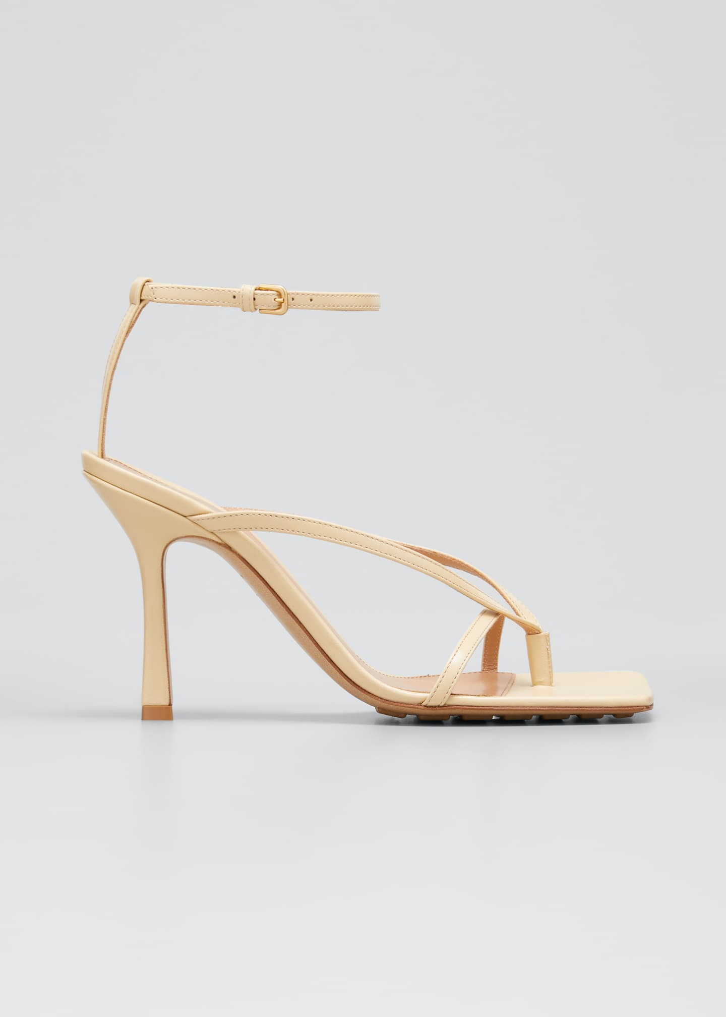 Multi Strap Stretch Sandals by Bottega-Veneta, available on bergdorfgoodman.com for $890 Hailey Baldwin Shoes Exact Product