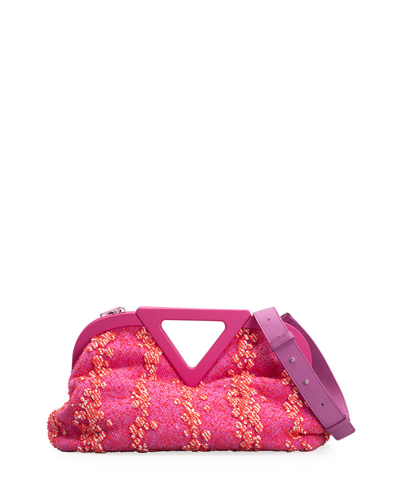 Patterned V Top-Handle Bag by Bottega Veneta, available on neimanmarcus.com for $3700 Hailey Baldwin Bags Exact Product
