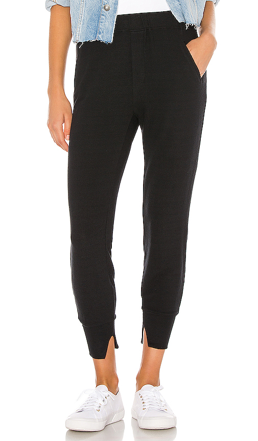 Peached Jersey Split Cuff Jogger by Enza Costa, available on revolve.com for $136 Hailey Baldwin Pants SIMILAR PRODUCT