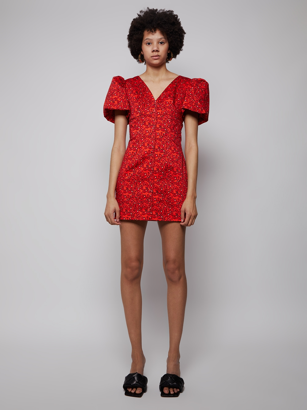 Pedra Bonita Dress Red Sloth by LHD, available on thewebster.us Hailey Baldwin Dress Exact Product