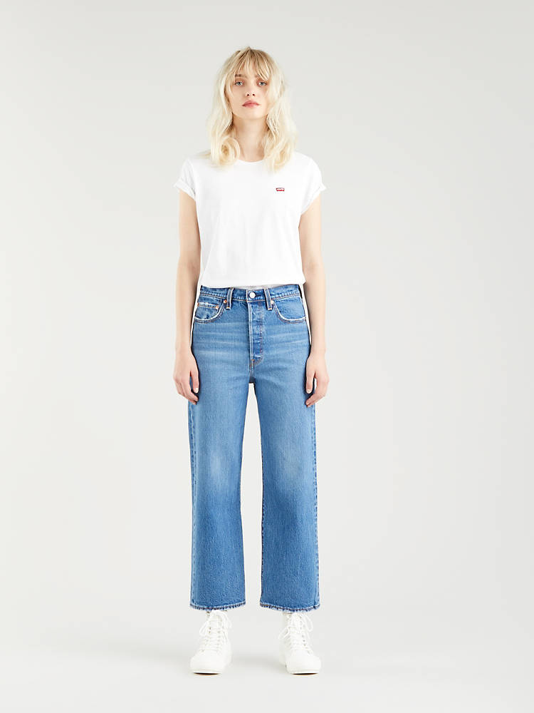 RIBCAGE STRAIGHT ANKLE JEANS by Levi's, available on levi.com for EUR100 Hailey Baldwin Pants Exact Product