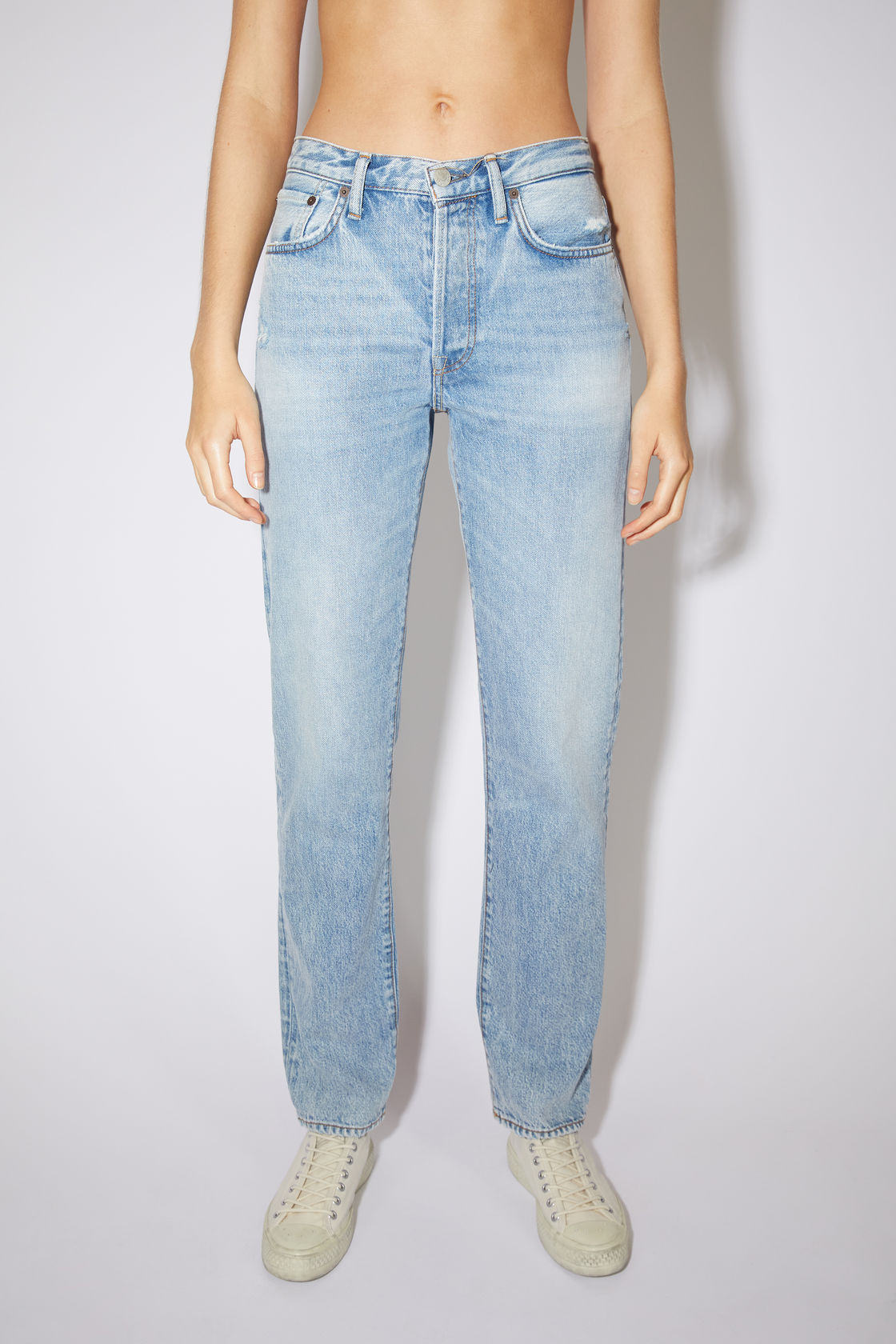 Regular fit jeans light blue by Acne Studios, available on acnestudios.com for $320 Hailey Baldwin Pants Exact Product
