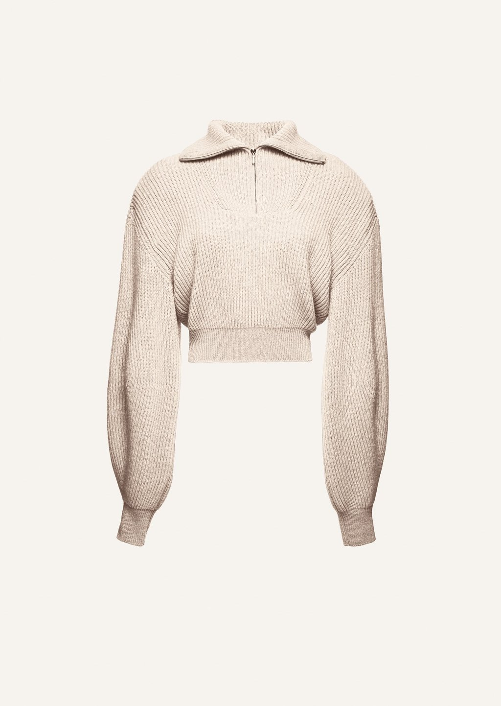 Ribbed cashmere pullover sweater in oatmeal by Magda Butrym, available on magdabutrym.com for EUR1295 Hailey Baldwin Top Exact Product