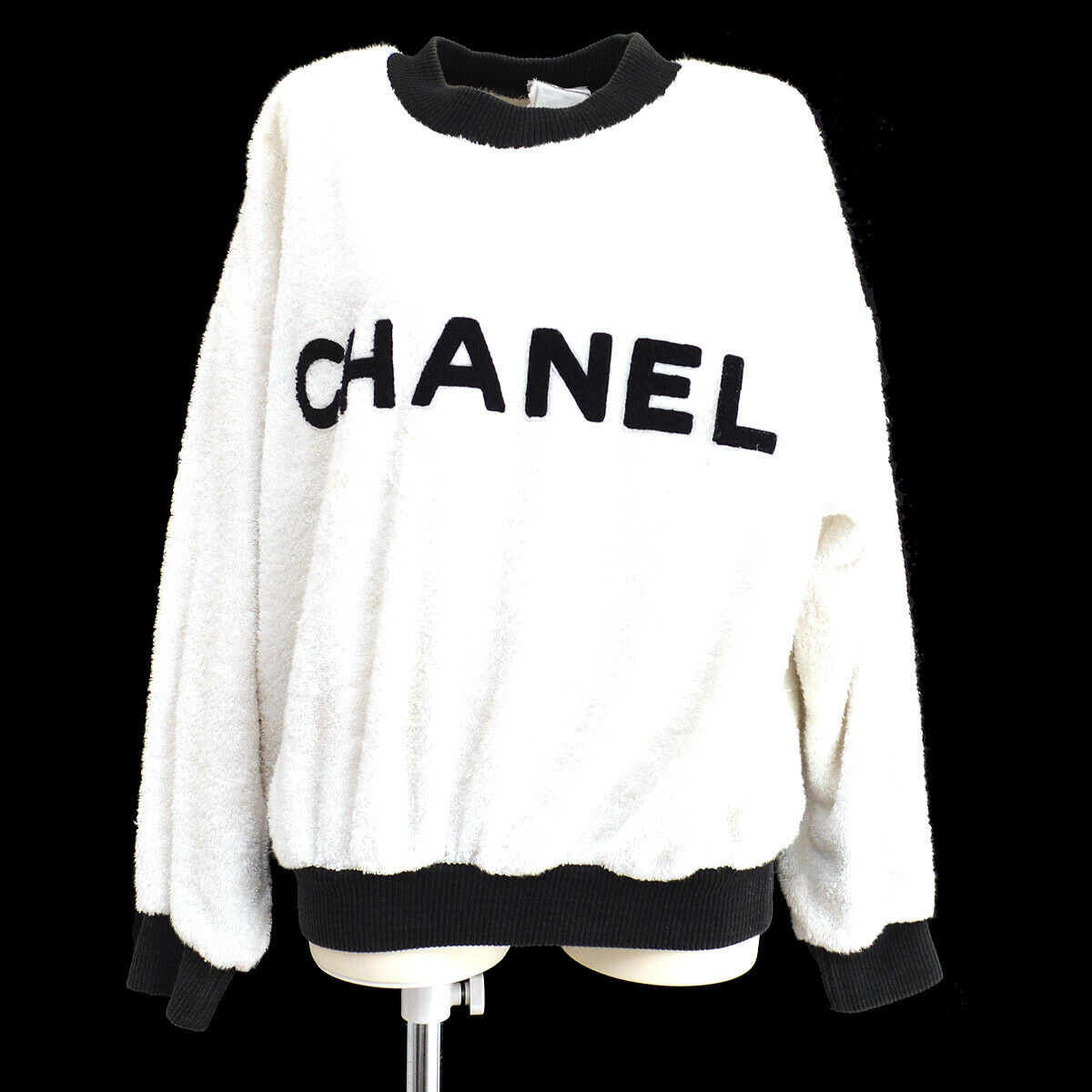 Round Neck CC Long Sleeve Tops Sweatshirt by Chanel, available on ebay.com for $2232 Hailey Baldwin Top Exact Product
