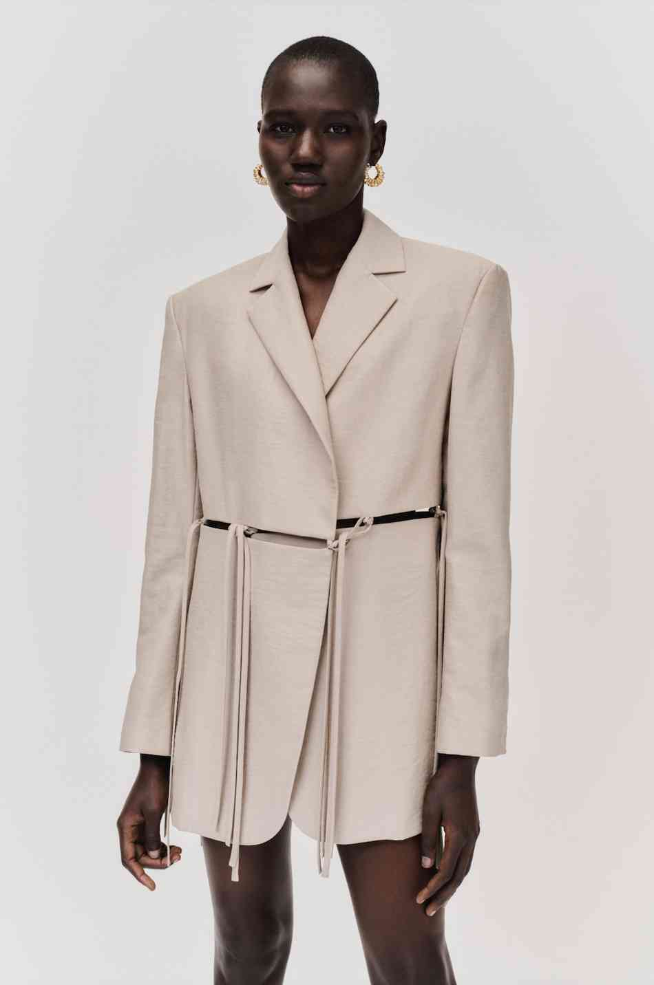 SPLIT JACKET by OAT, available on yuzefi.com for EUR525 Hailey Baldwin Outerwear Exact Product
