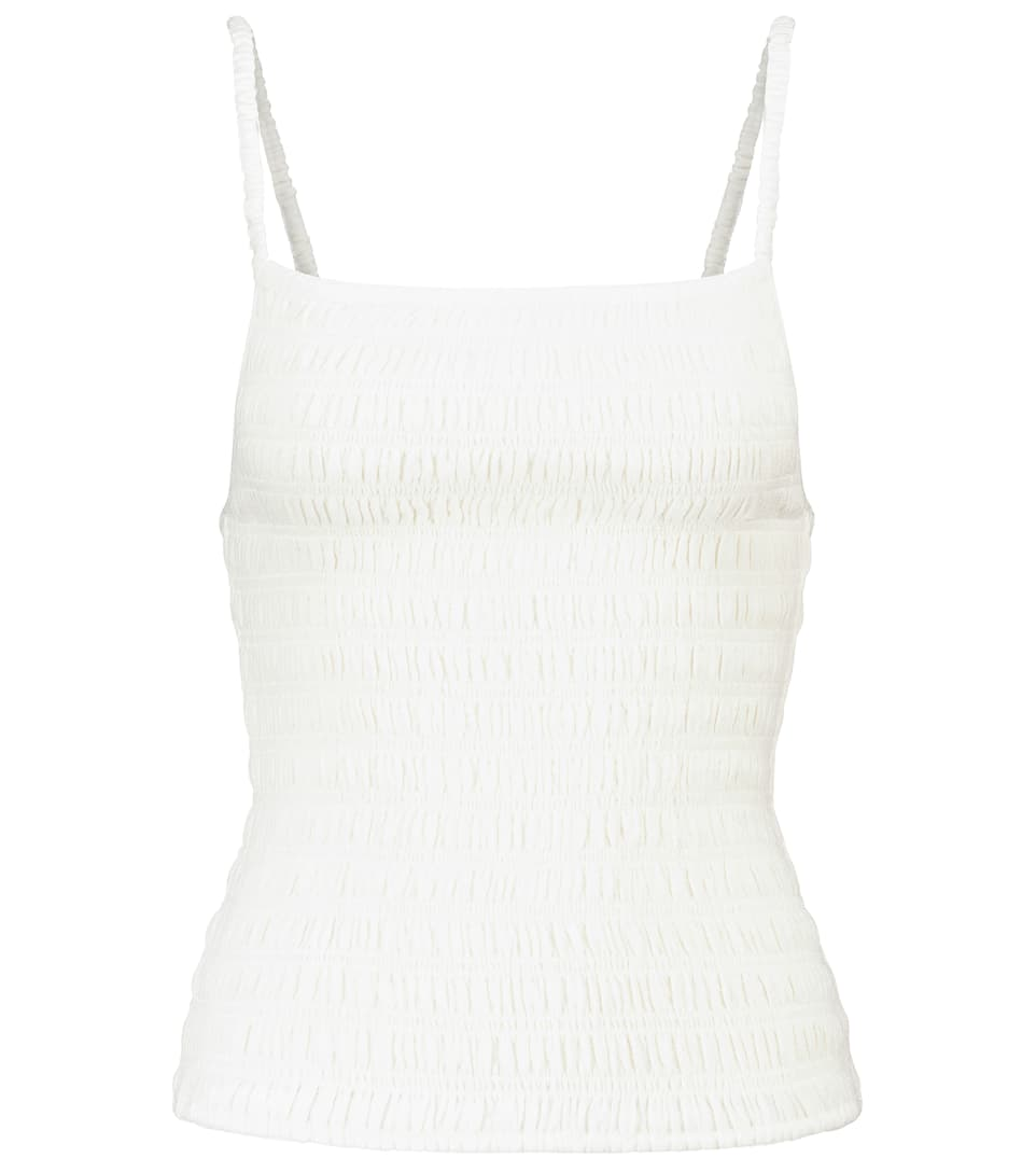 Smocked camisole by TOTÊME, available on mytheresa.com for EUR320 Hailey Baldwin Top Exact Product