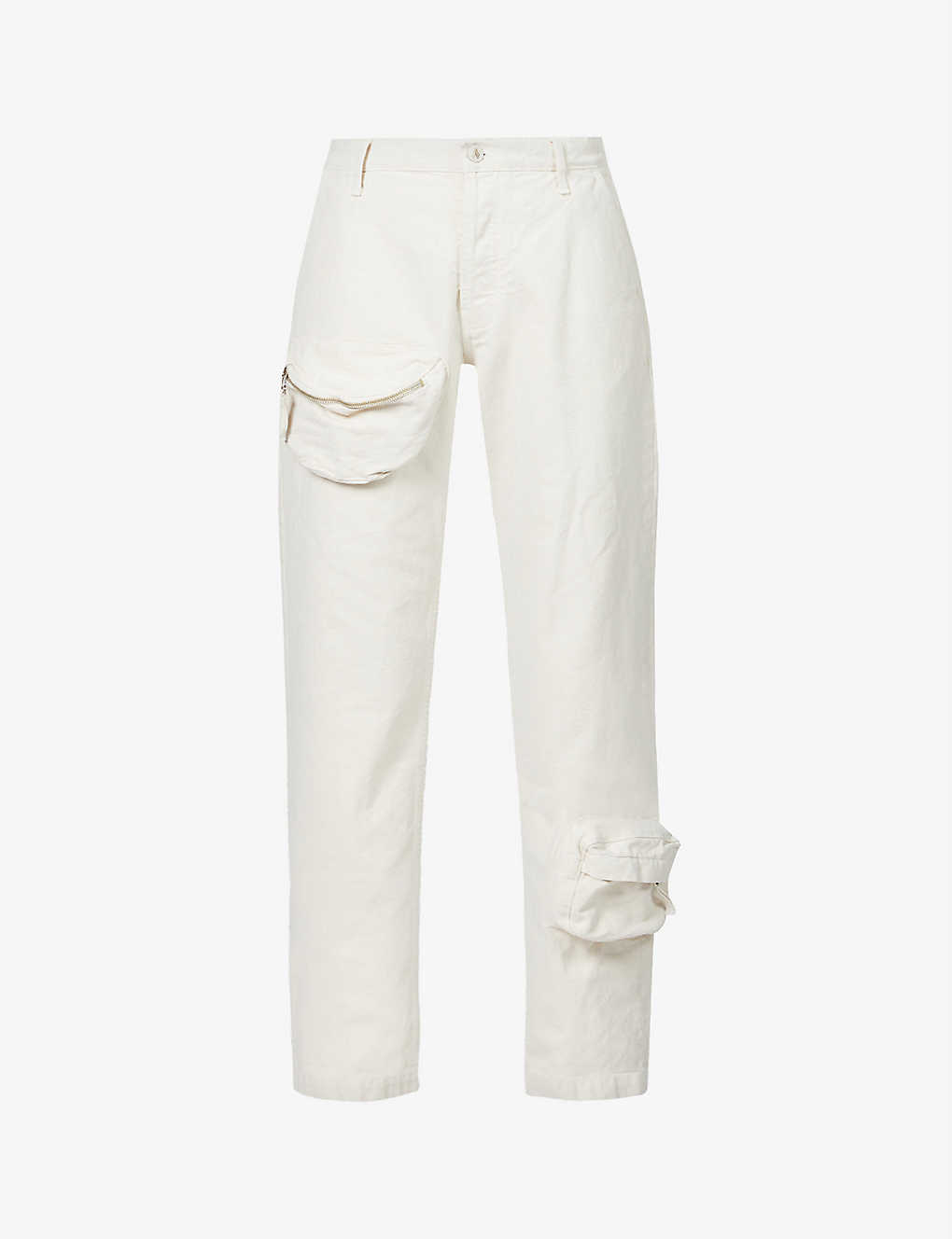 Straight-leg high-rise denim trousers by The Attico, available on selfridges.com for $720 Hailey Baldwin Top Exact Product