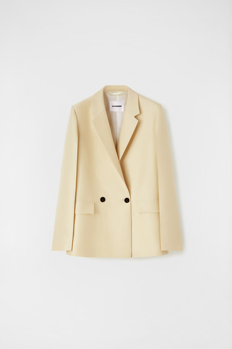 Tailored Jacket by Jil Sander, available on jilsander.com for EUR1990 Hailey Baldwin Outerwear Exact Product