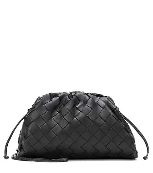 The Mini Pouch leather clutch by Bottega Veneta, available on mytheresa.com for $1620 Hailey Baldwin Bags SIMILAR PRODUCT