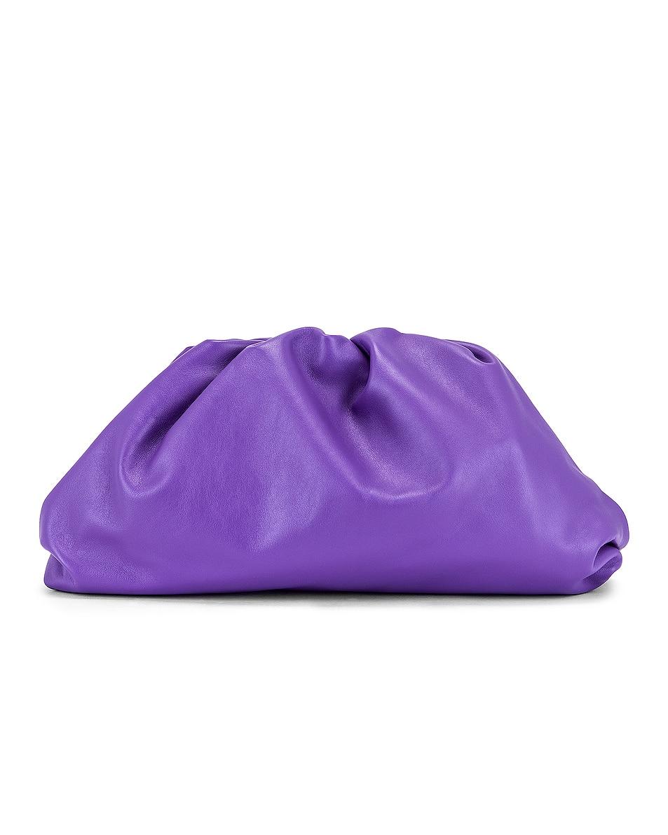 The Pouch Clutch by Bottega Veneta, available on fwrd.com for ₹204379 Hailey Baldwin Bags Exact Product