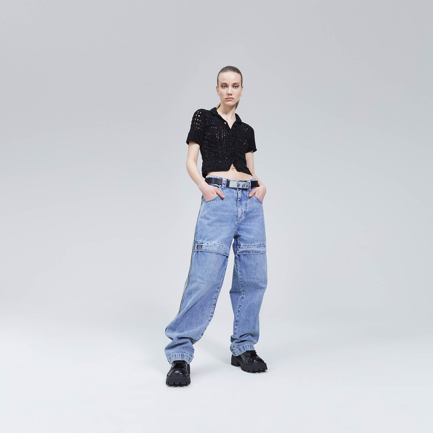 Titan Tuck Jeans by eytys, available on eytys.com for SEK2700 Hailey Baldwin Pants Exact Product