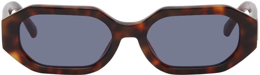 Tortoiseshell Linda Farrow Edition Irene Hexagonal Sunglasses by Attico, available on ssense.com Hailey Baldwin Sunglasses Exact Product