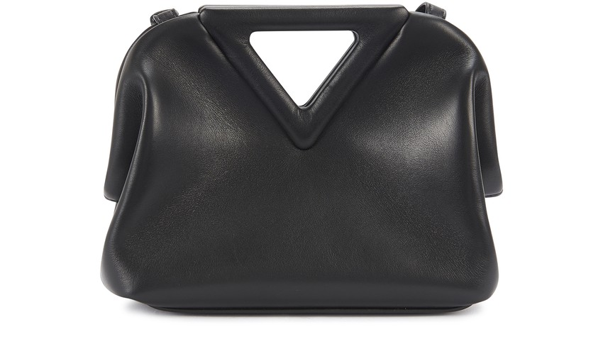 Triangle Clutch S by Bottega Veneta, available on 24s.com for $2250 Hailey Baldwin Bags Exact Product
