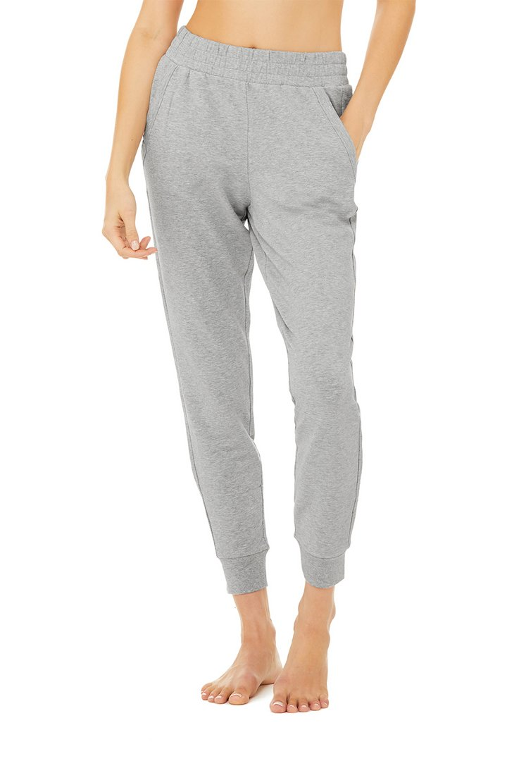 Unwind Sweatpant - Dove Grey Heather by Alo Yoga, available on aloyoga.com for $98 Hailey Baldwin Pants SIMILAR PRODUCT