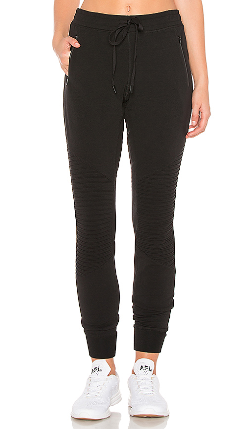 Urban Moto Sweatpant by alo, available on revolve.com for $98 Hailey Baldwin Pants SIMILAR PRODUCT