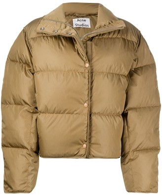 padded cropped jacket by Acne Studios, available on shopstyle.com for $800 Hailey Baldwin Outerwear SIMILAR PRODUCT