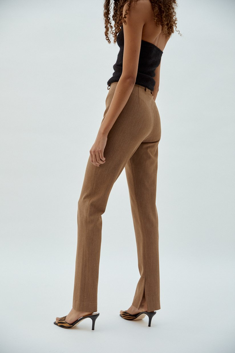 trousers sixtine by Musier Paris, available on musier-paris.com for EUR160 Hailey Baldwin Pants Exact Product