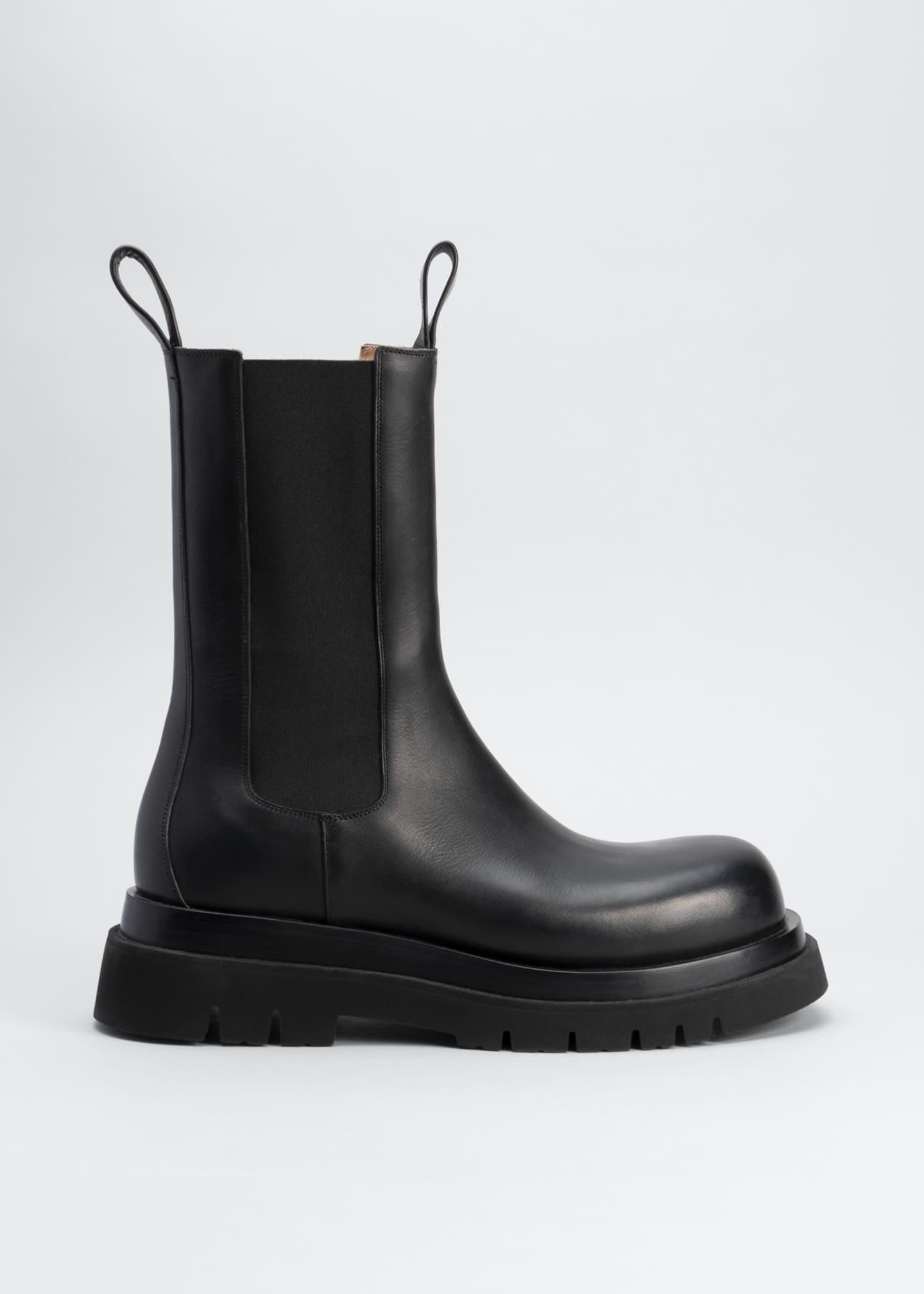 Flat Chelsea Combat Boots by Bottega Veneta, available on bergdorfgoodman.com for $1 Irina Shayk Shoes Exact Product