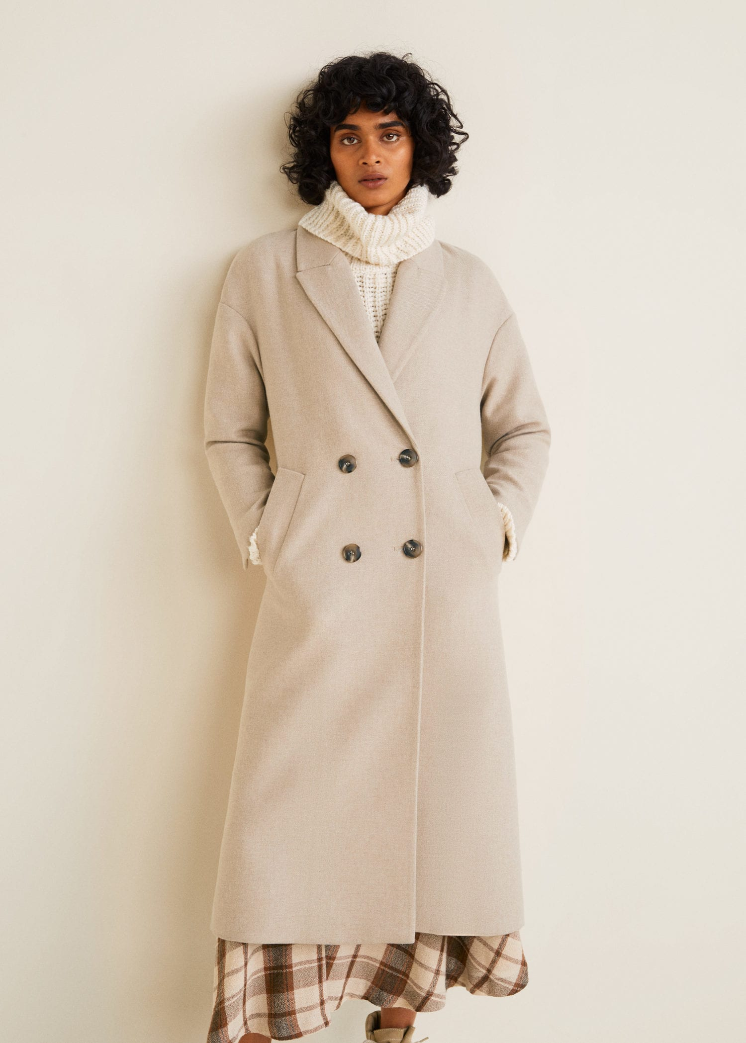 Unstructured wool-blend coat by Mango, available on mango.com for $149 Irina Shayk Outerwear Exact Product